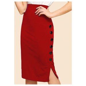 Dresses & Skirts - ➕ Button Detail Pencil Skirt